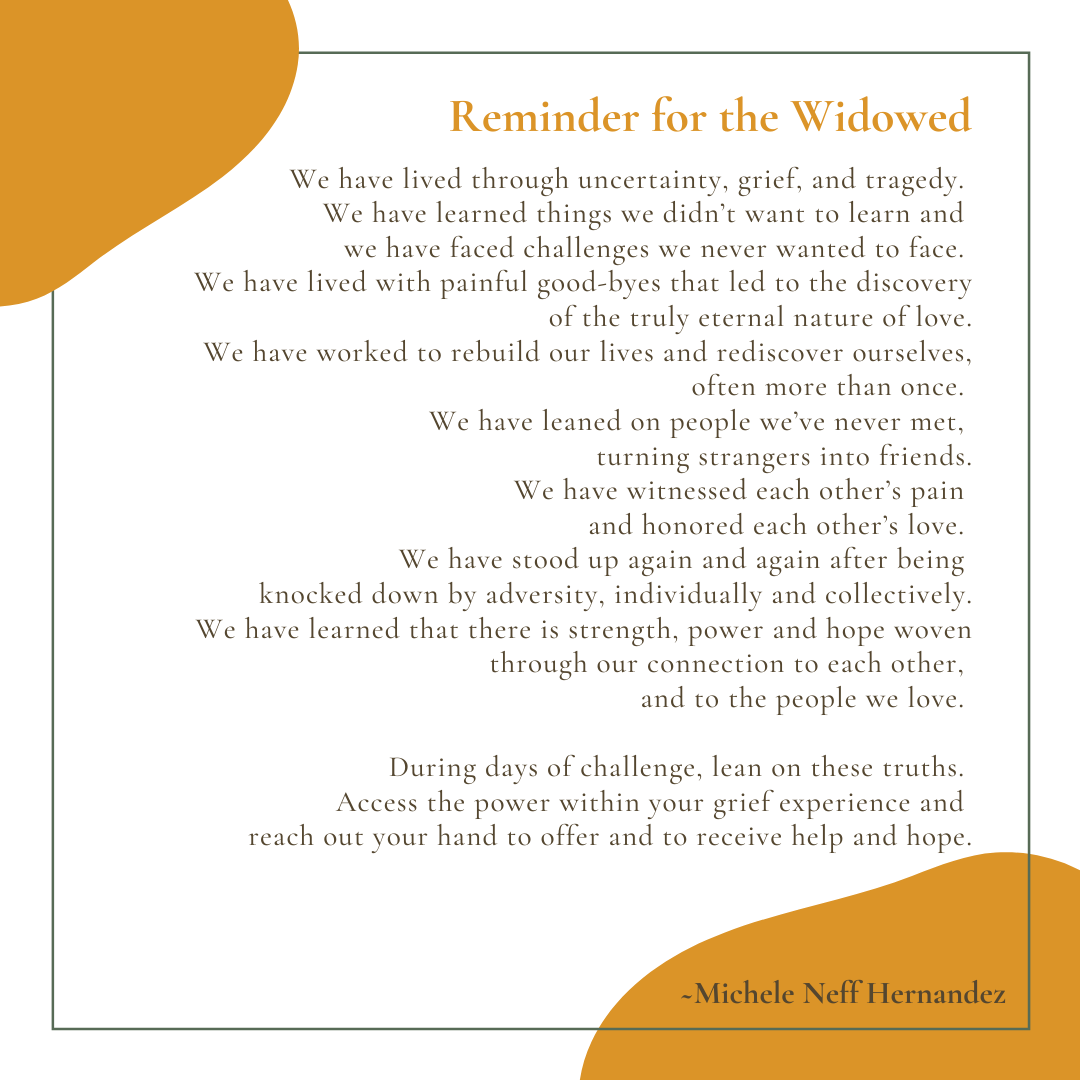 Reminder for the Widowed