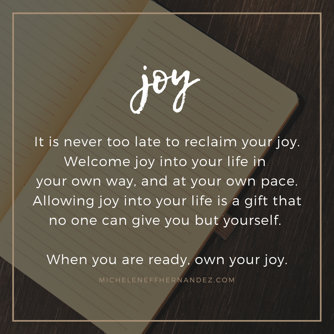 Welcoming Joy