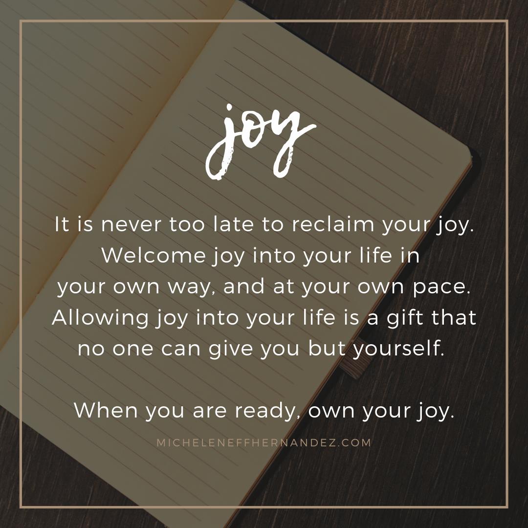 Welcoming Joy